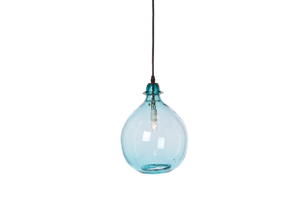 Glass Jug Lamp Small - Turquoise
