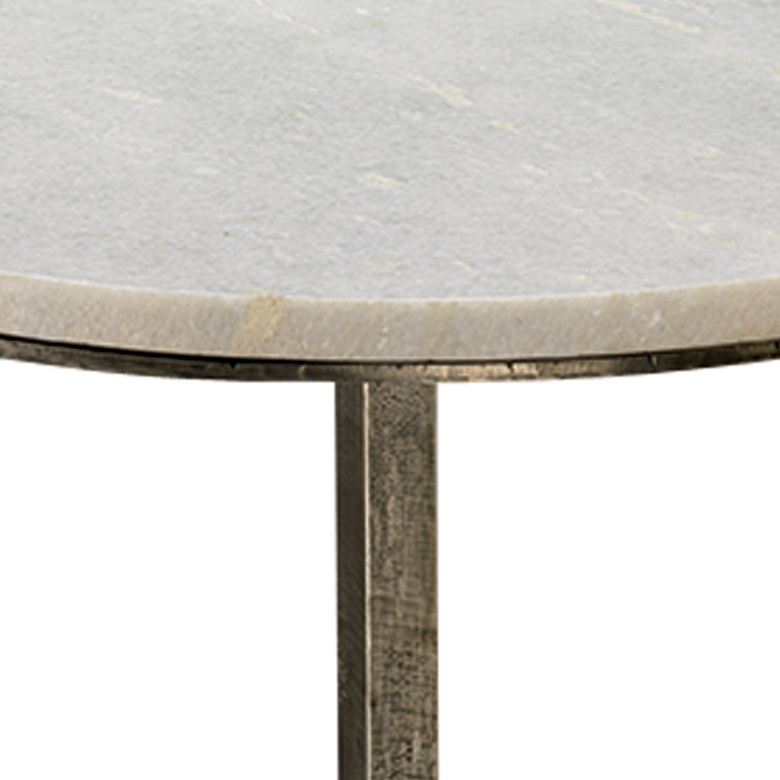 Left Bank Marble Table - Gunmetal