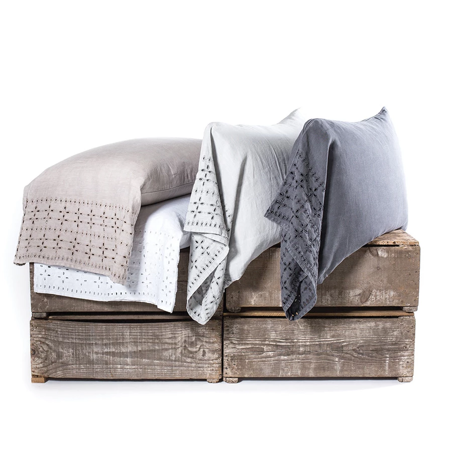 "Layla 20""x30"" Standard Pillow Cases Set - Taupe"