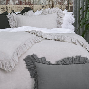 Tat Linen Queen Duvet Cover - Loomstate