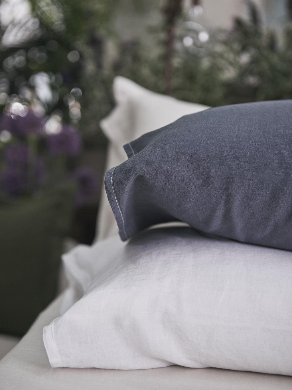 Vintage Linen Pillowcase - Night