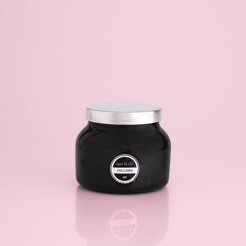 Volcano Petite Signature Jar Candle - Black - 8oz
