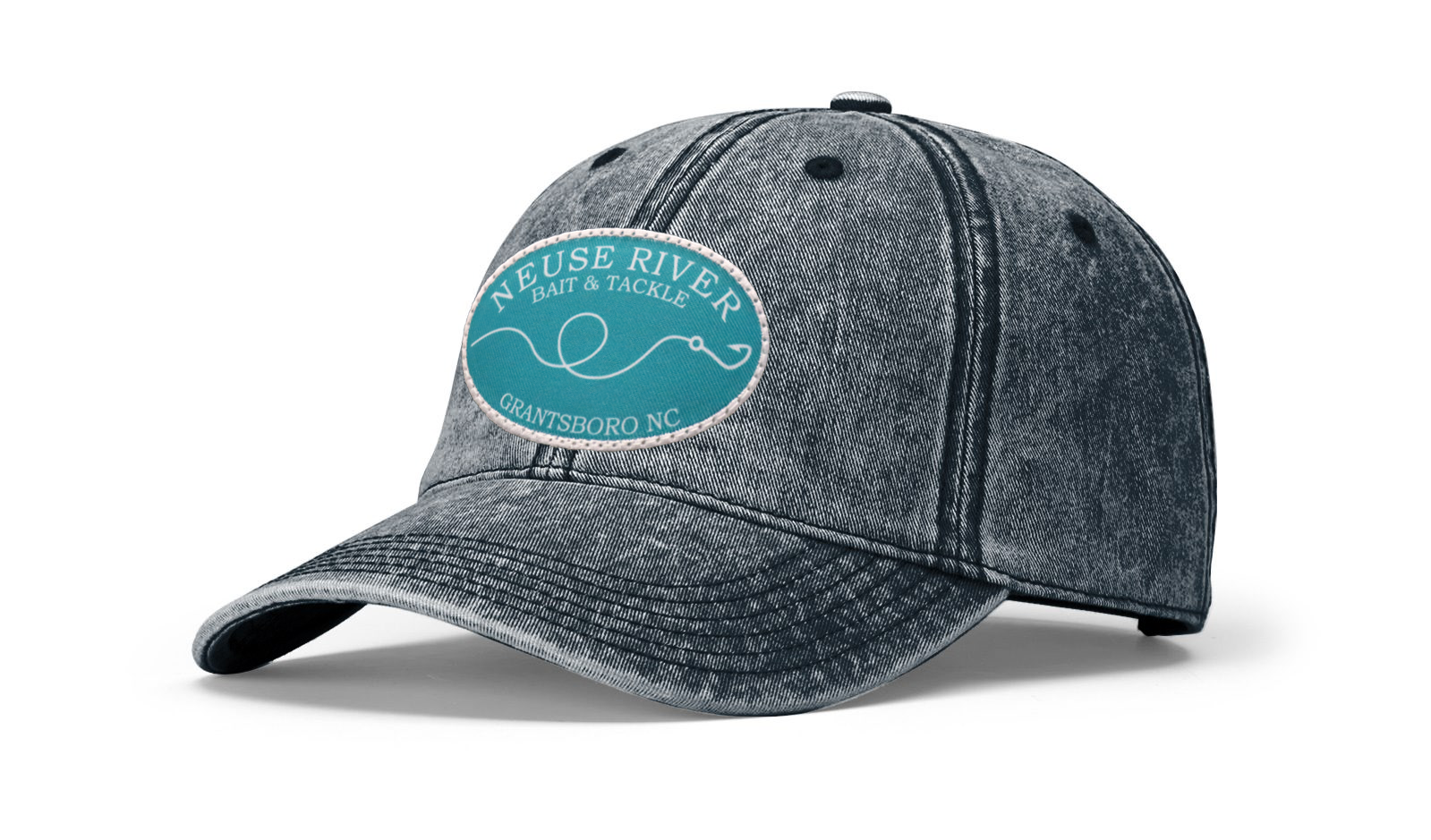 Hook & Line Patch Snow Washed Hat