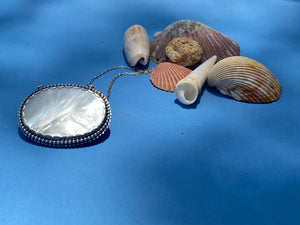 One-of-a- Kind Mother of Pearl Button Pendant