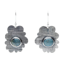 Load image into Gallery viewer, Reclaimed Slag Irregular Scallop Earrings
