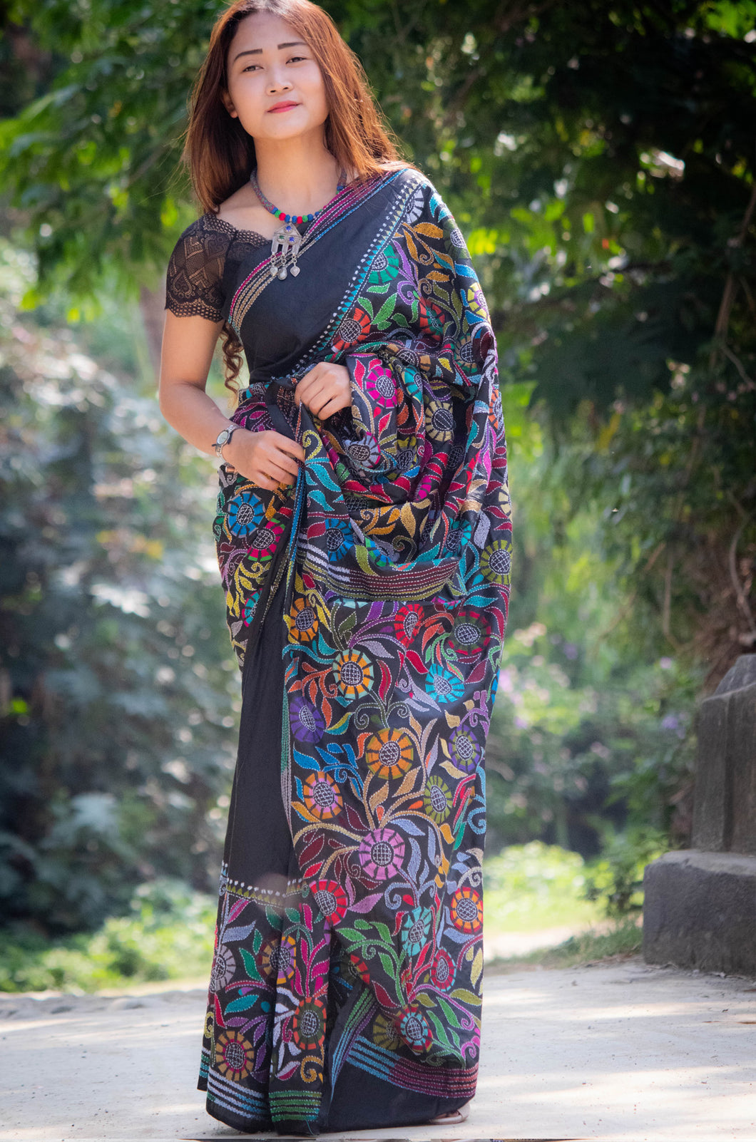 West Bengal SILK KANTHA STITCH SAREE