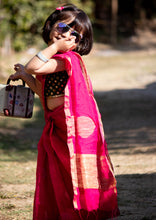 Load image into Gallery viewer, Readymade Kids Handloom Saree (3-5years)