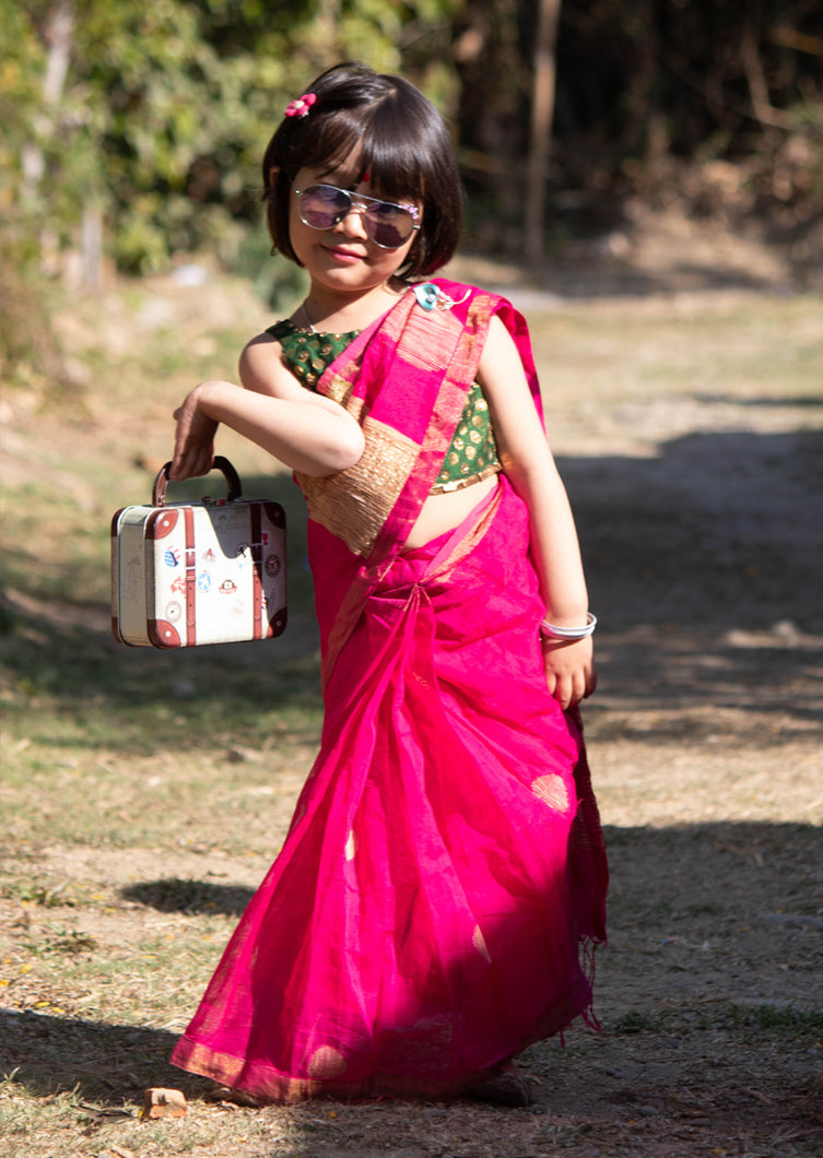 Readymade Kids Handloom Saree (3-5years)