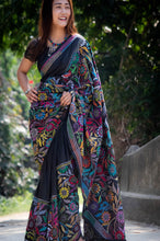 Load image into Gallery viewer, West Bengal SILK KANTHA STITCH SAREE