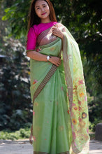 Load image into Gallery viewer, Manipur SILK EXTRA WEFT HANDLOOM SAREE