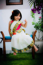 Load image into Gallery viewer, Readymade Kids Handloom Saree (3-5years)Whatsapp 8700359632 to customize your size