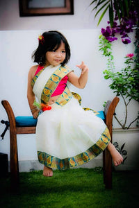 Readymade Kids Handloom Saree (3-5years)Whatsapp 8700359632 to customize your size