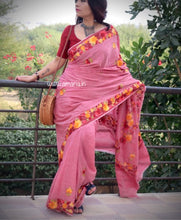 Load image into Gallery viewer, ONLY 5 meters length special price -Kashmir AARI  STITCH HANDLOOM COTTON SAREE