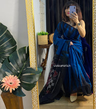 Load image into Gallery viewer, Soft cotton HANDLOOM  ikkat SAREE DAILY WEAR