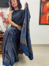 Load image into Gallery viewer, MODAL SILK Ajrakh NATURAL DYE INDIGO BASE