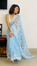 Load image into Gallery viewer, Summer pastels chikankari work