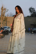 Load image into Gallery viewer, THE MINIMALIST- Feather Light Silk Khadi Saree Amaria's Inhouse design
