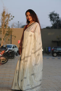 THE MINIMALIST- Feather Light Silk Khadi Saree Amaria's Inhouse design