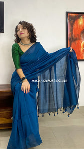PLAIN COTTON  HANDLOOM SAREE DAILY WEAR