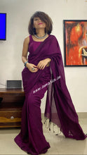 Load image into Gallery viewer, PLAIN COTTON  HANDLOOM SAREE DAILY WEAR