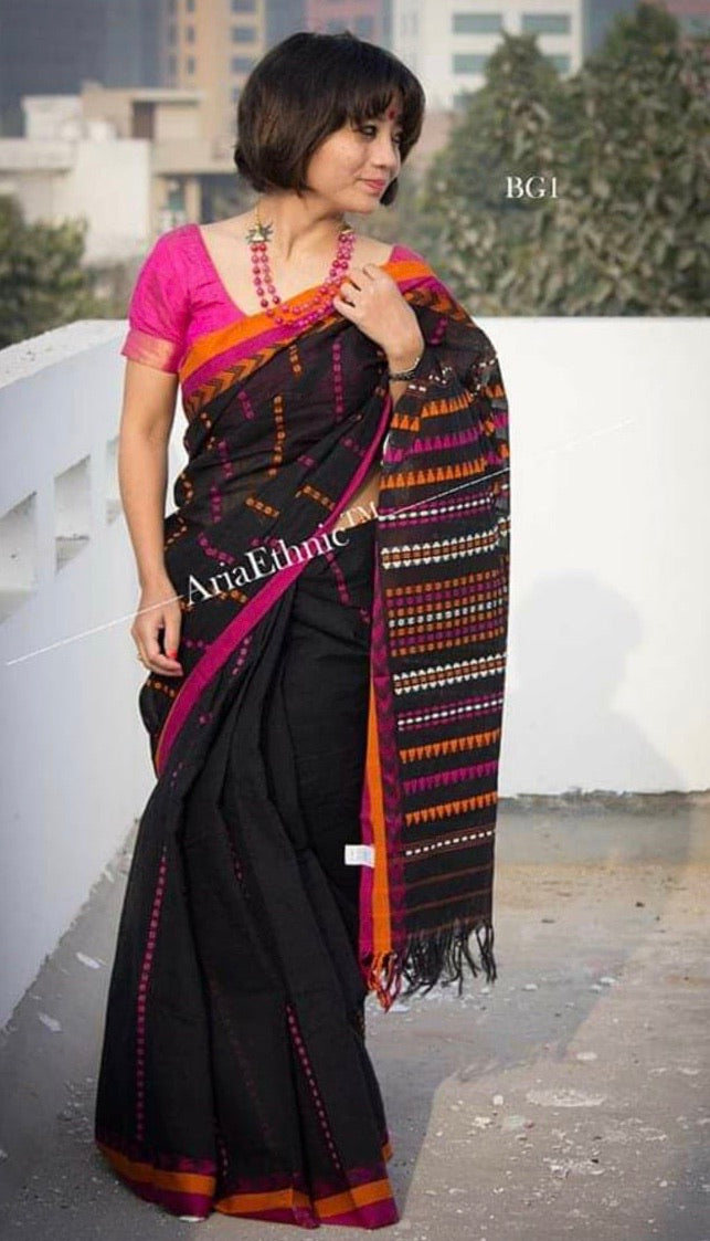 Soft cotton HANDLOOM Begampuri SAREE DAILY WEAR