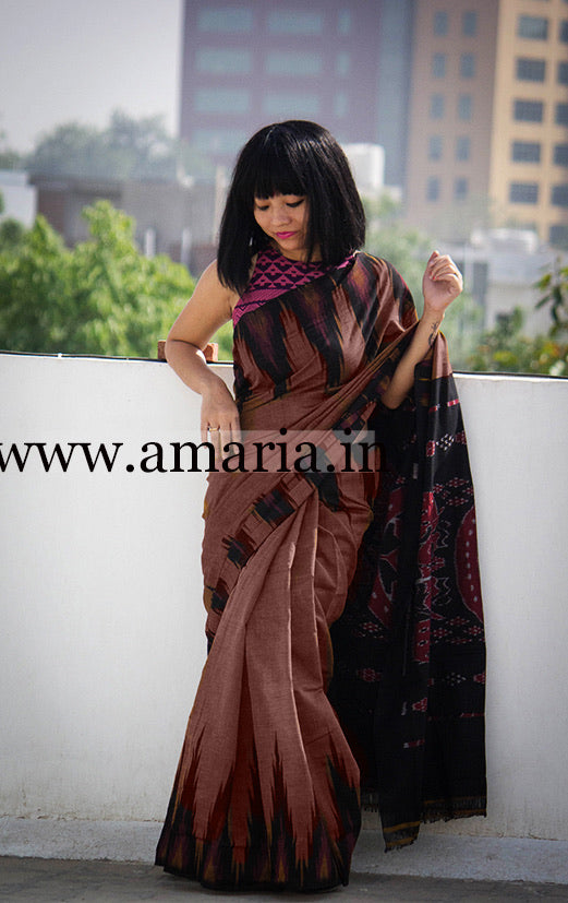 Soft cotton HANDLOOM  ikkat SAREE DAILY WEAR