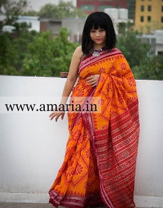NUAPATNA IKKAT Soft cottoN SAREE