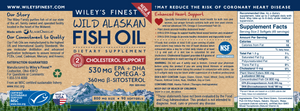 Wiley's Finest Wild Alaskan Cholesterol Support (90 Capsules)