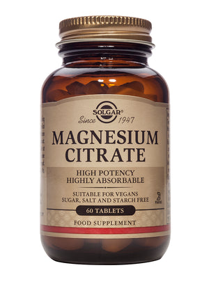 Solgar Magnesium Citrate Tablets-Pack of 60