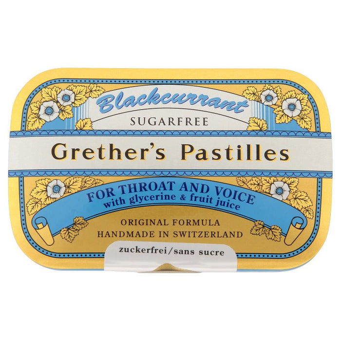 Grether's Blackcurrant Sugarfree Pastilles 60g
