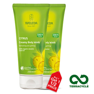Weleda Citrus Creamy Body Wash 200ml X 2