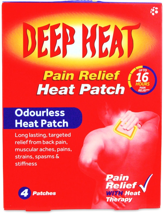 Deep Heat Pain Relief Heat Patch 4s