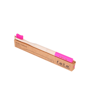 Bamboo Toothbrush Firm pink(f.e.t.e)