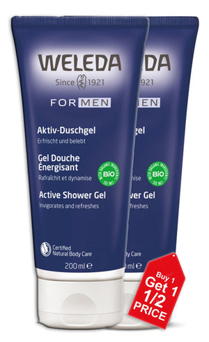 Weleda Men Active Shower Gel 200ml X 2