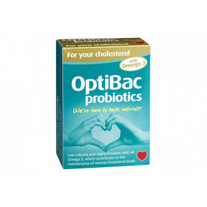 OptiBac Probiotics For Your Cholesterol with Omega-3 Caps 30