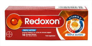 Redoxon Triple Action (10 orange Effervescent Tablets)