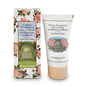 L'Erbolario Rosa - Rose Perfumed Nourishing Hand Cream with Rose extract.