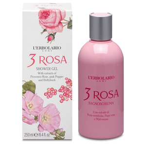 L'Erbolario 3 Rosa Shower Gel 250ml