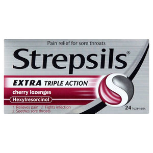 Strepsils Extra Triple Action Cherry Lozenges