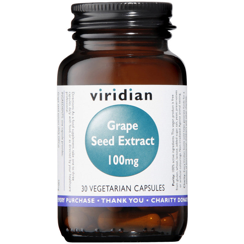 Viridian Grape Seed Extract 100mg Veg Caps 30