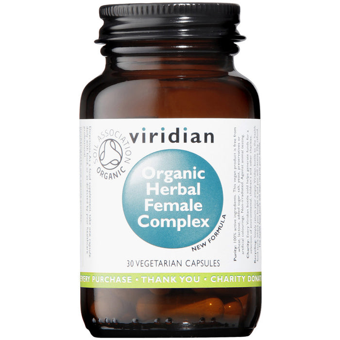 Viridian Herbal Female Complex Organic Veg Caps 30