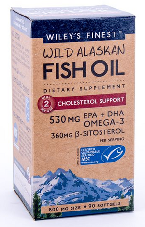 Wiley's Finest Wild Alaskan Cholestrol Support (90 Capsules)