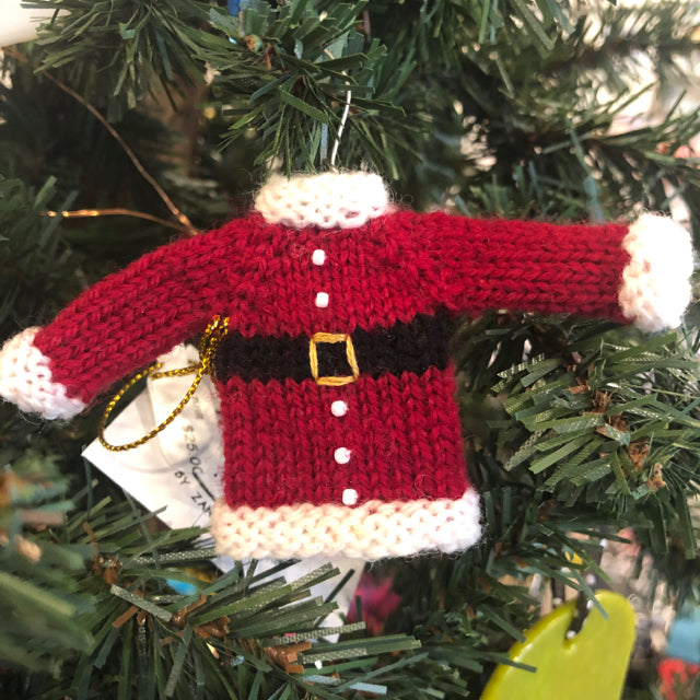 Ornament - Tiny Santa Sweater