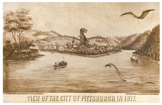 Print - Digital Art Pittsburgh in 1817