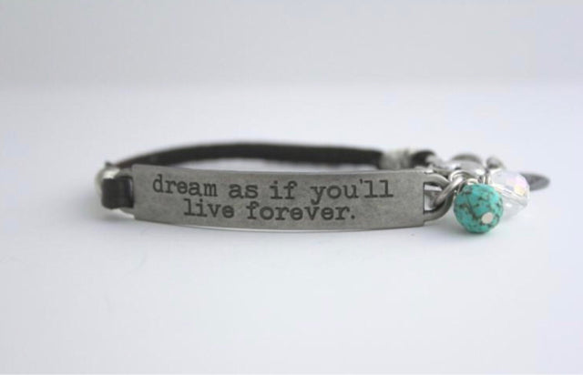 Bracelet - Quote Leather