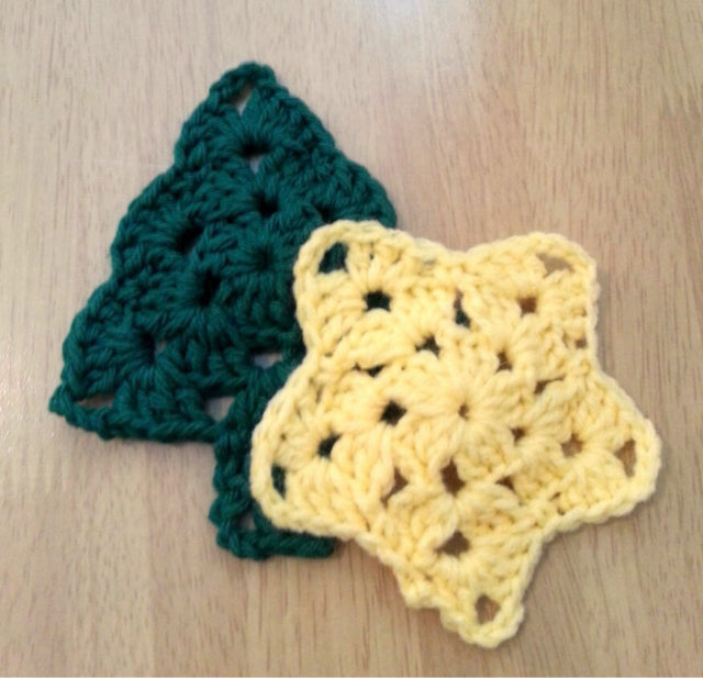 Ornament - Crochet Star/Tree Set
