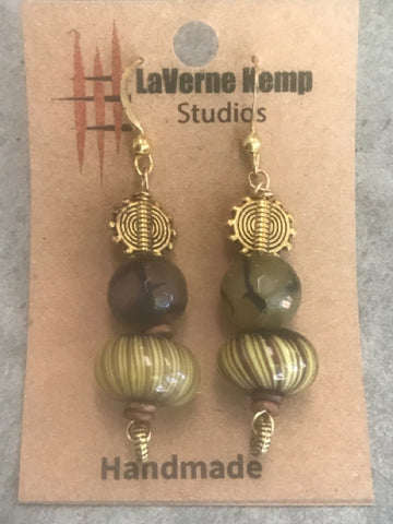 Earrings - Stone Agate Drops