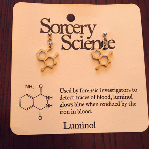 Earrings - Molecules Luminol