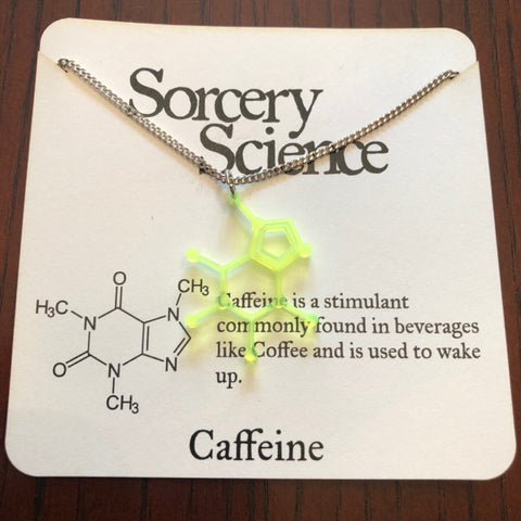 Necklace - Caffeine Molecule