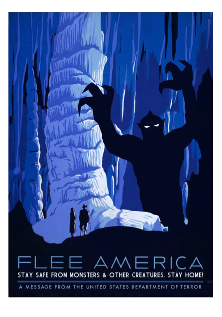 Flee America: Cave Monsters Print
